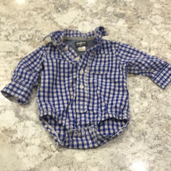 Boys plaid bodysuit button-up